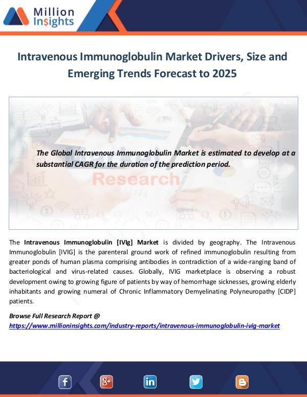 Market World Intravenous Immunoglobulin Market Drivers