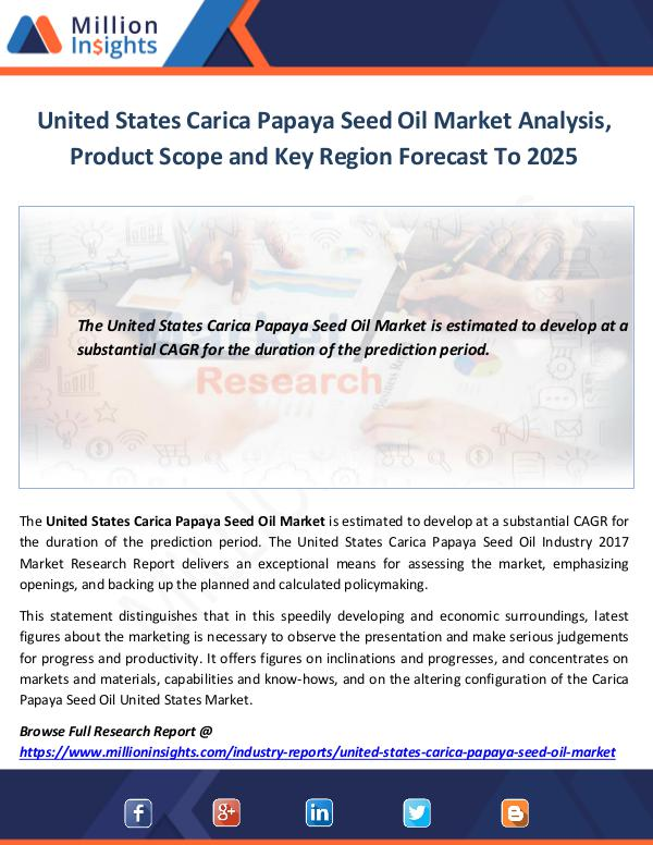 United States Carica Papaya Seed Oil Market