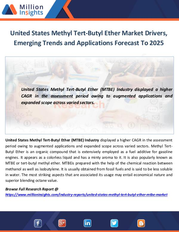 United States Methyl Tert-Butyl Ether Market