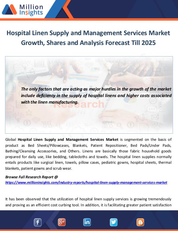 Hospital Linen Supply and Management Services
