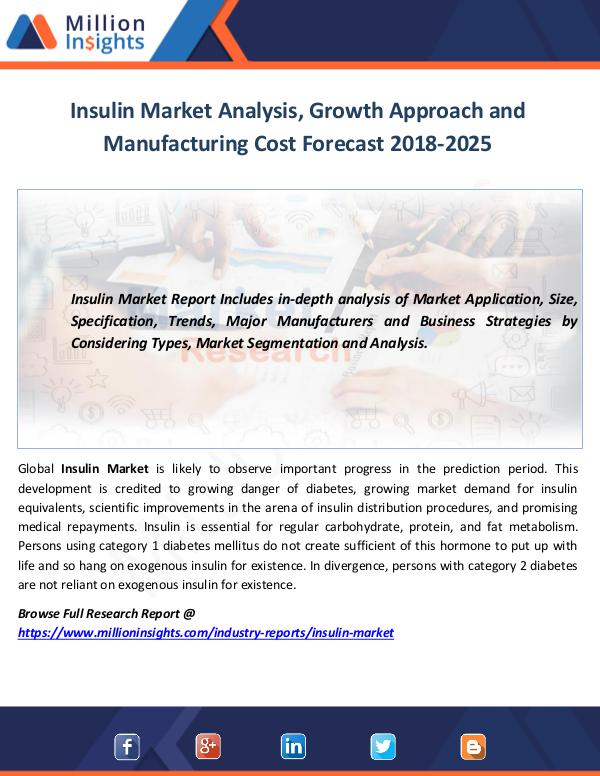 Market World Insulin Market Analysis