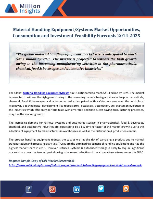 Market World Material Handling Equipment Systems Market