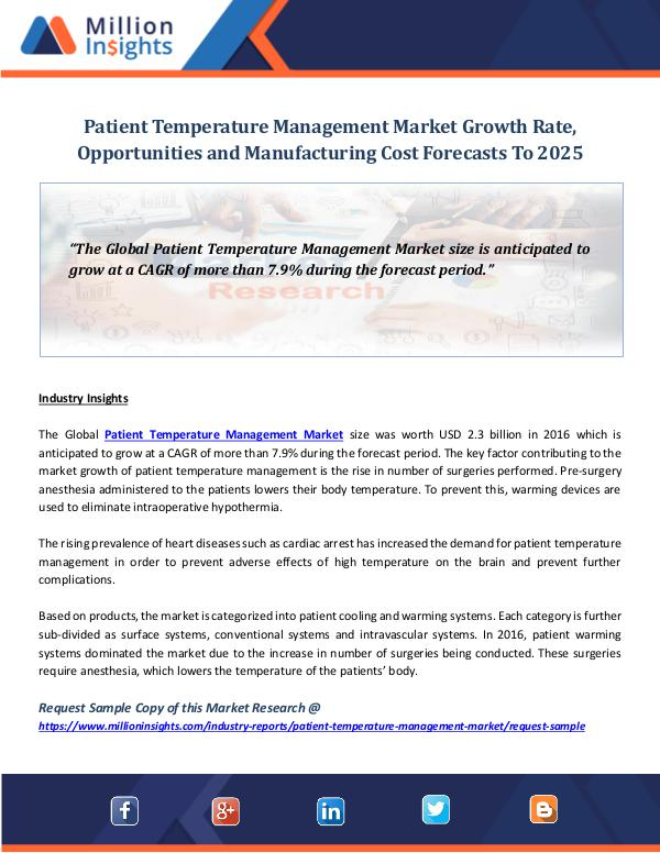 Market World Patient Temperature Management Market