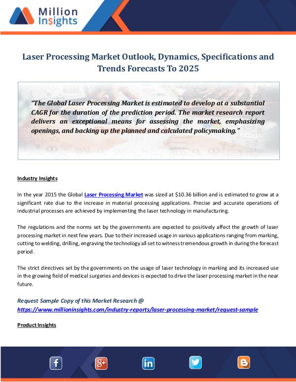 Laser Processing Market Outlook