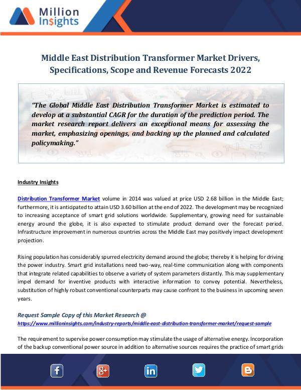 Middle East Distribution Transformer Market