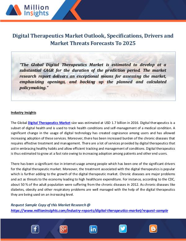 Digital Therapeutics Market Outlook