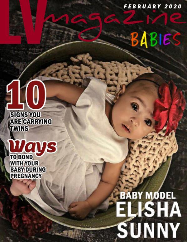 LV Magazine Kids Babies February 2020 Cover Elisha Sunny