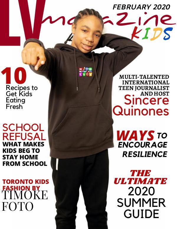 LV Magazine Kids February Cover Sincere Quinones