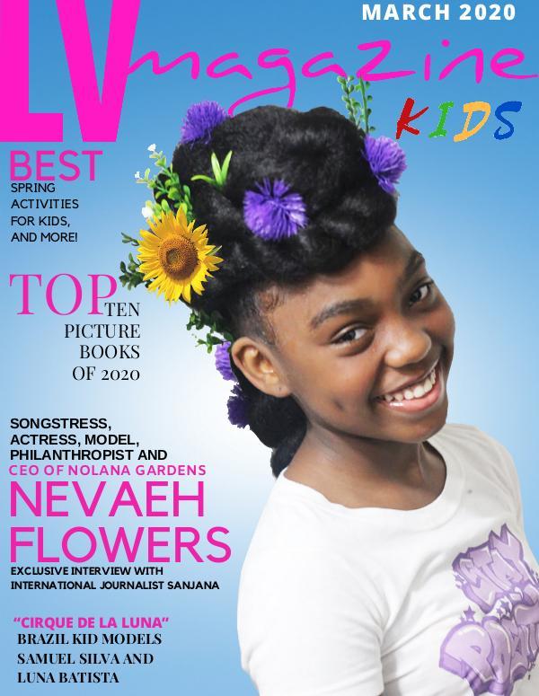LV Magazine Kids March 2020 Nevaeh Flowers