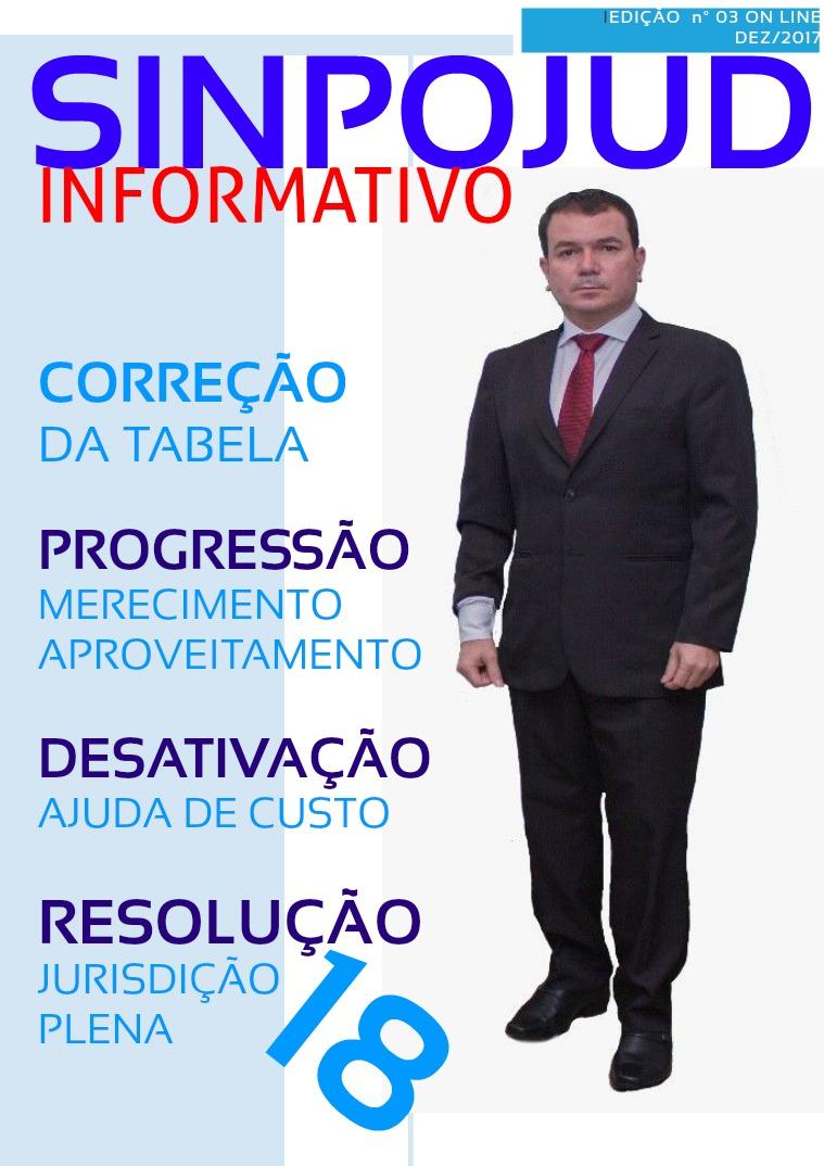 REVISTA SINPOJUD EDIÇÃO INFORMATIVO INFORMATIVO