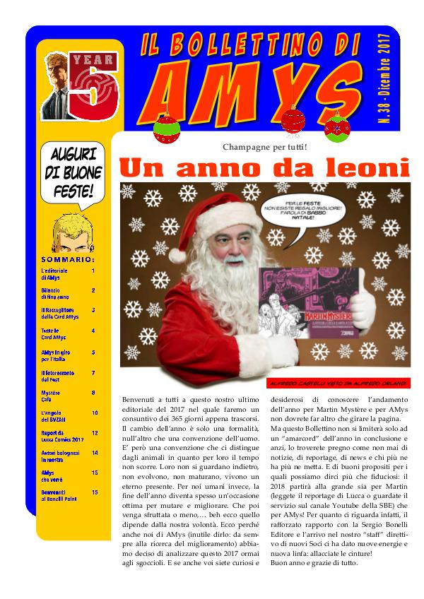 IL BOLLETTINO DI AMYS nr. 38-2017