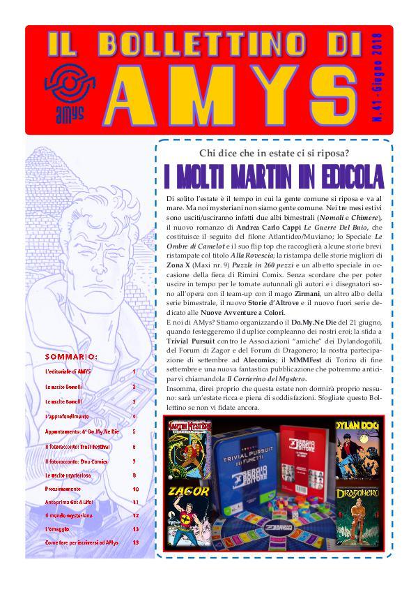 Tutti i Bollettini di AMys nr.41-2018