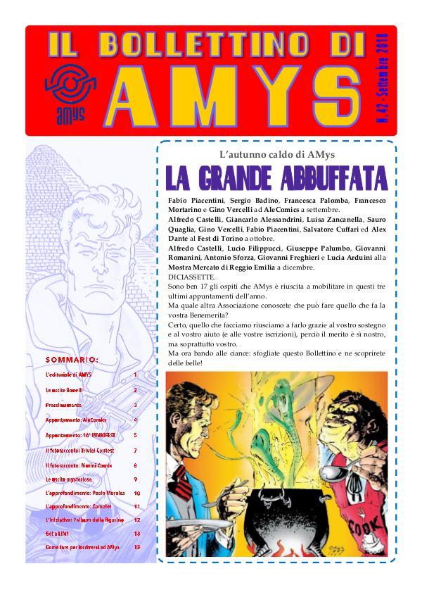 IL BOLLETTINO DI AMYS nr. 42-2018