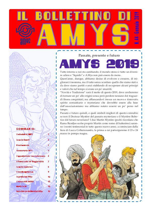 IL BOLLETTINO DI AMYS nr. 44-2019