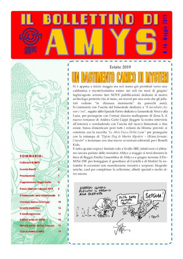 Tutti i Bollettini di AMys IL BOLLETTINO DI AMYS nr. 46-2019