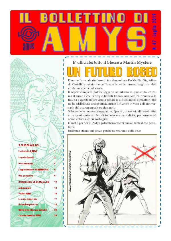 Tutti i Bollettini di AMys IL BOLLETTINO DI AMYS nr. 47-2019