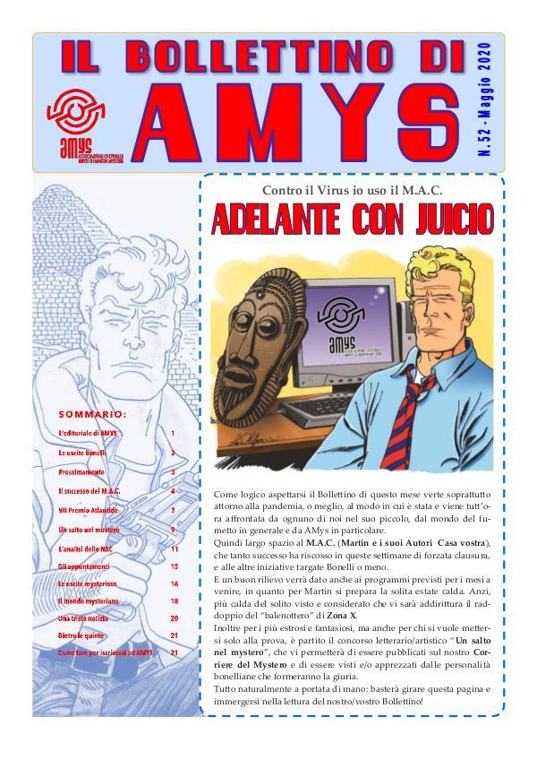 Tutti i Bollettini di AMys IL BOLLETTINO DI AMYS nr. 52-2020.low