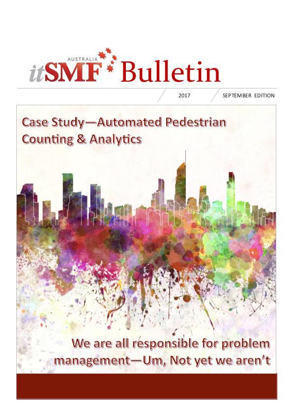 itSMF 2017 September Bulletin Bulletin - September 2017