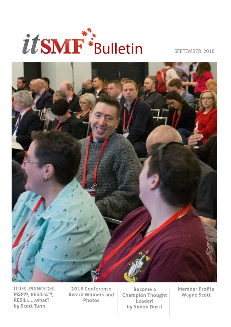 itSMF Bulletin itSMF Bulletin September 2018