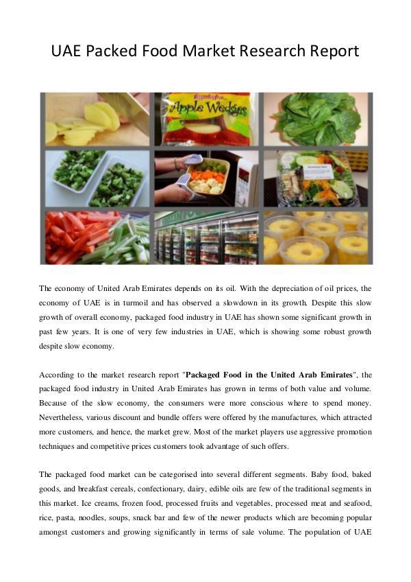 Food Industries In Uae