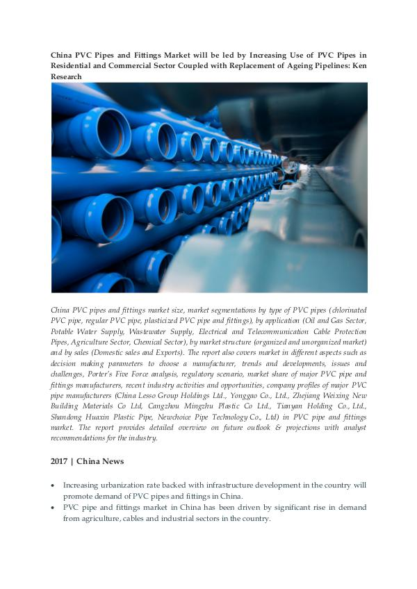 Ken Research - China PVC Pipe Sales Growth