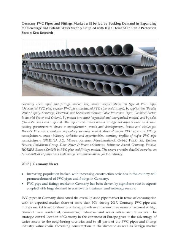 Ken Research - Major PVC Pipe Companies in Germany