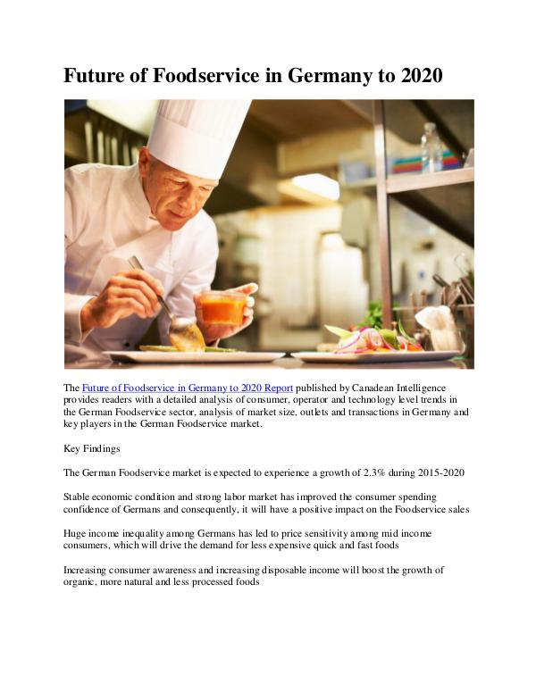 Ken Research - Germany Foodservice Industry Revenue