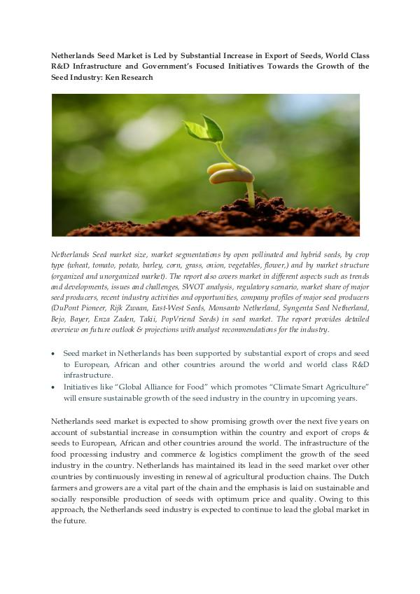 Ken Research - Netherlands Seed Market Research Report