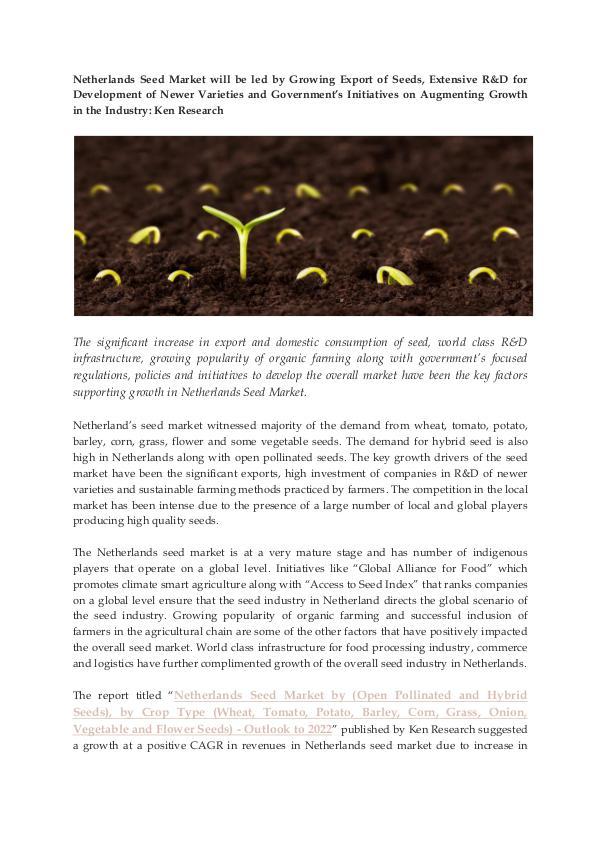 Ken Research - Netherlands Seed Market Size