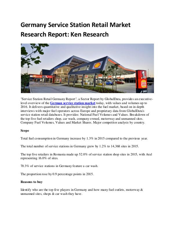 Ken Research - Germany Service Station Retail Market Research Rep