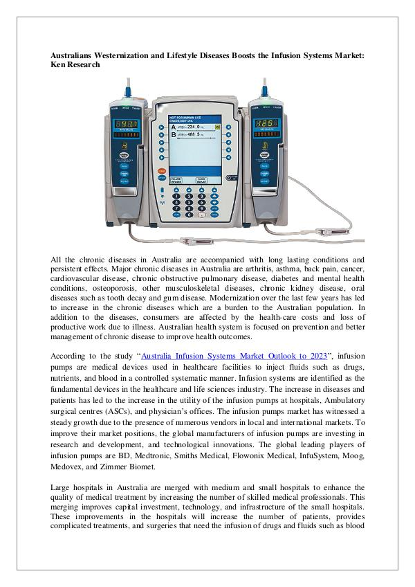 Infusion Pumps Suppliers in Australia