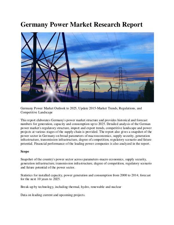 Ken Research - Germany Power Market Value