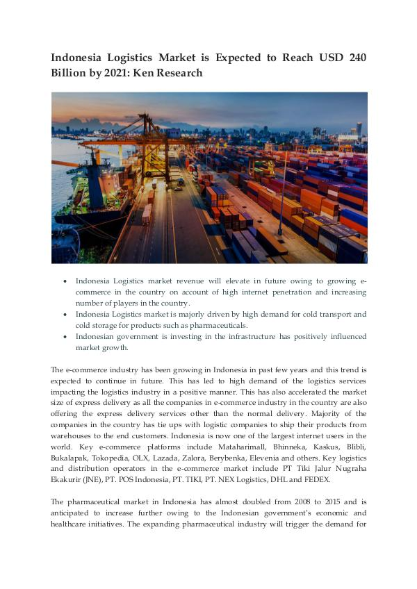 Ken Research - Logistics Growth Indonesia