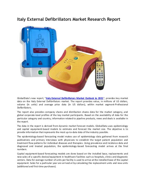 Italy External Defibrillators Industry Research Re