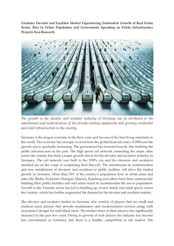 Germany Elevators and Escalators Market Research R