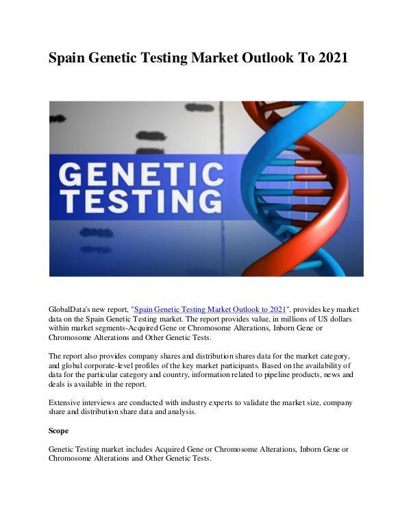 Spain Genetic Testing Market Research Report