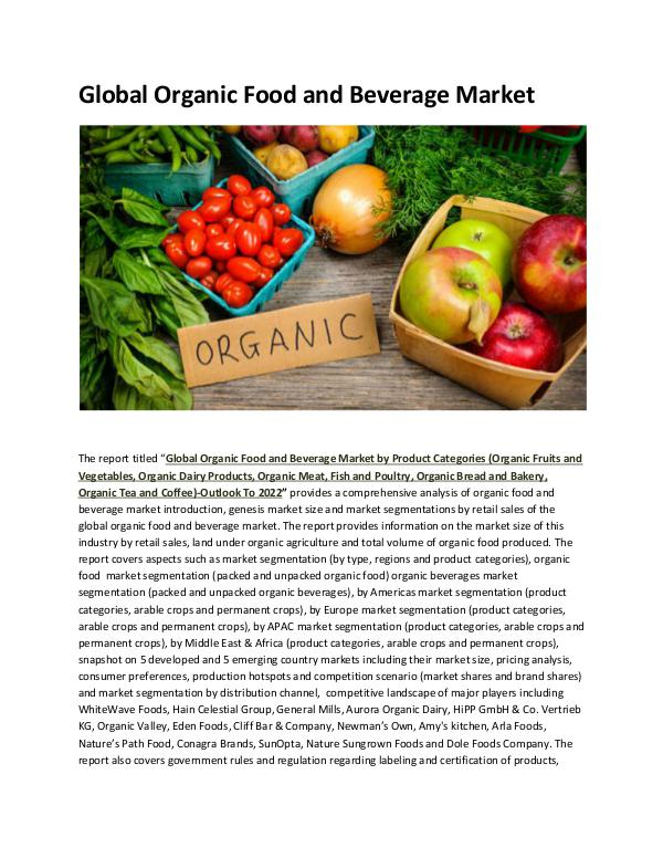 Organic Food Production Volume