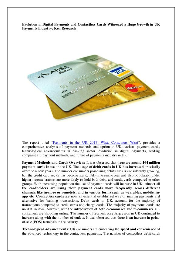 UK cards and payments market research report