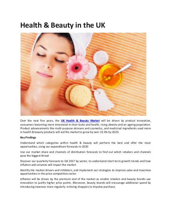 UK Health & Beauty Market Future Outlook