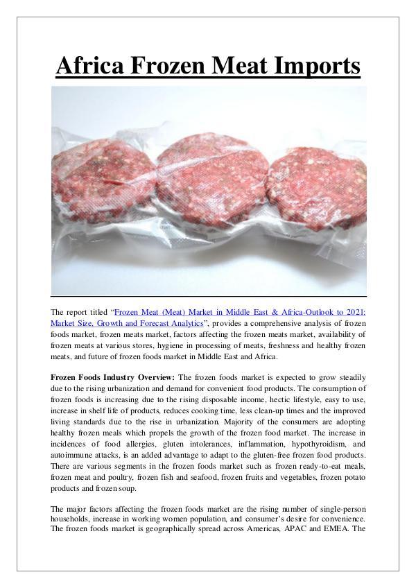 Ken Research - Africa Frozen Meat Imports