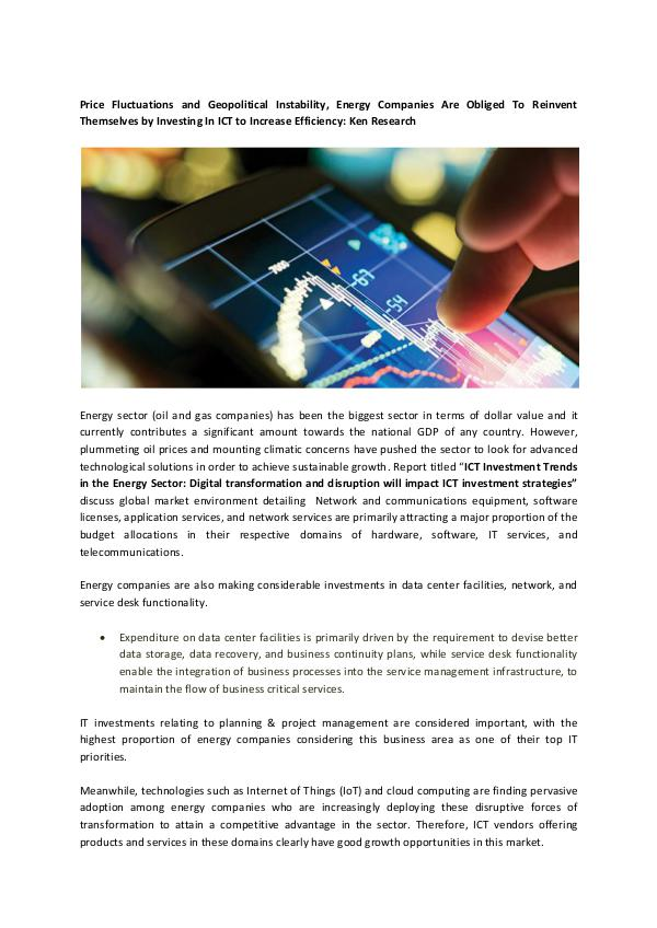 ICT Investment Trends in the Energy Sector