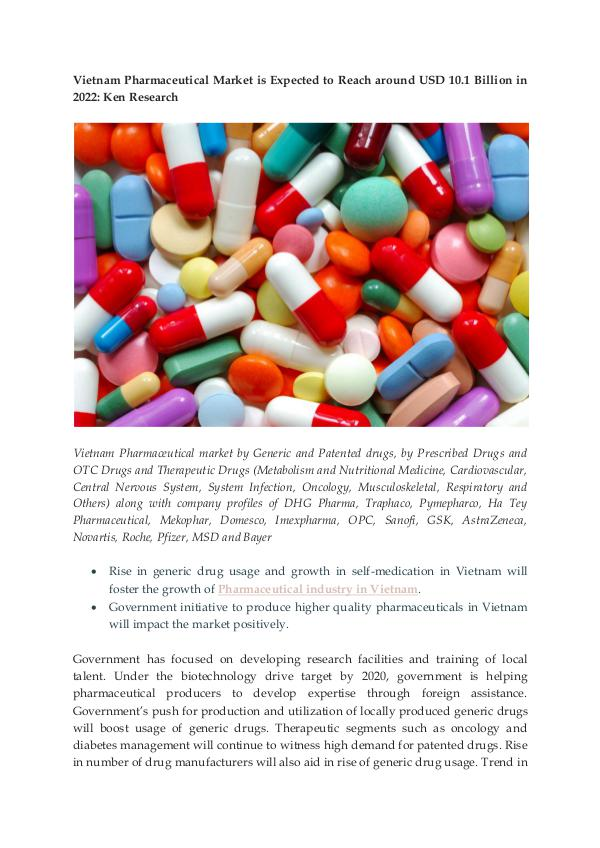 Vietnam Pharmaceutical Import And Export