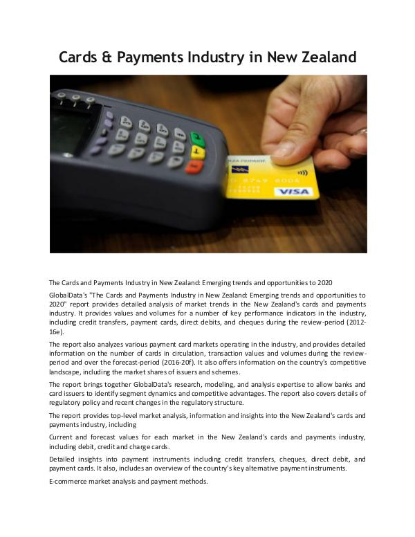 Ken Research - Cards & Payments Industry in New Zealand