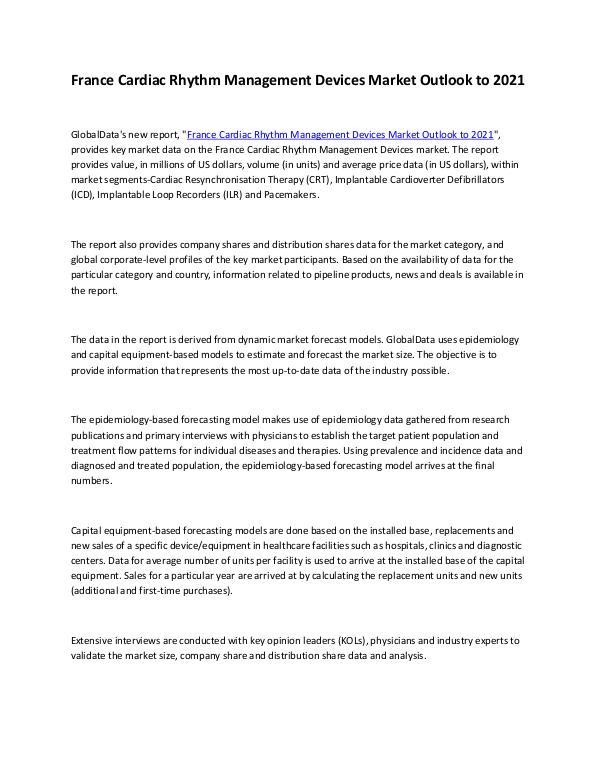 Ken Research - France Cardiac Rhythm Management Devices Market Ou