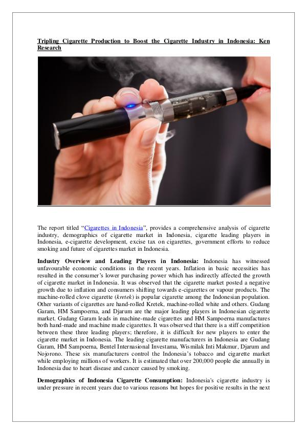Ken Research - Indonesia Cigarette Market