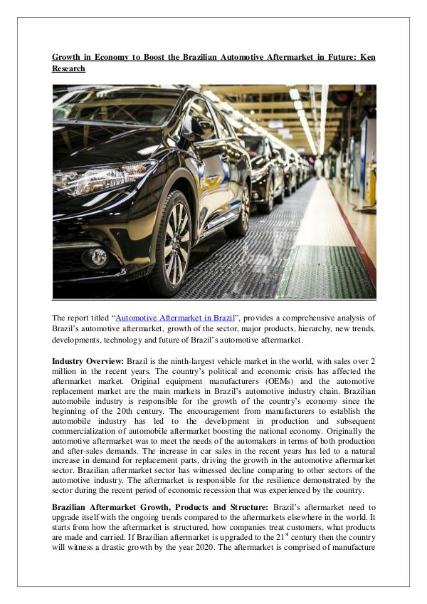 Brazil Automotive Aftermarket Research Report