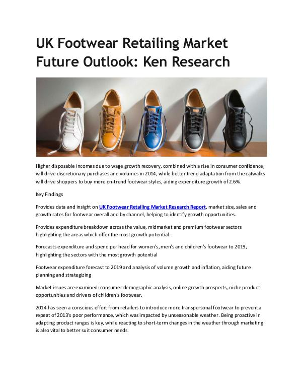 UK Footwear Retailing Market Future Outlook
