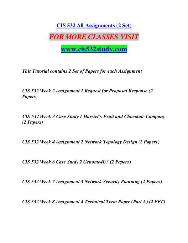 cis 532 study Change The World /cis532study com cis 532