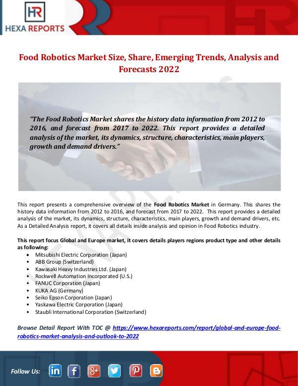 Food Robotics Market Size, Share, Emerging Trends,