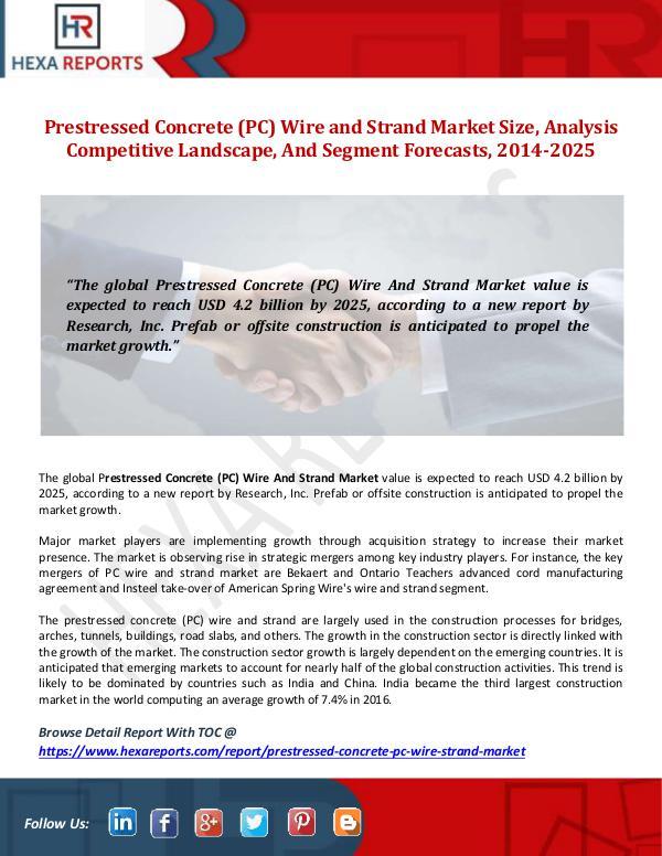 Prestressed Concrete (PC) Wire and Strand Market S